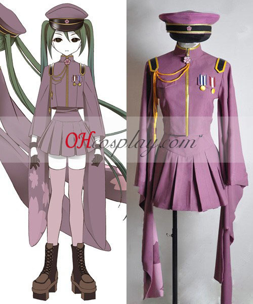 Vocaloid Thousand Cherry Tree Miku Uniform Cosplay Costume