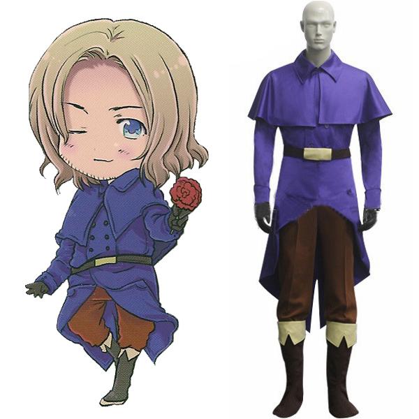 Frankrijk Cosplay Costume-algemene uit Axis Powers Hetalia