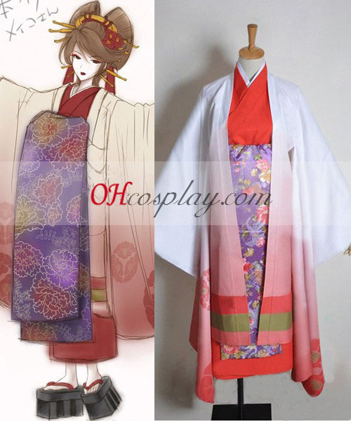 Vocaloid Thousand Cherry Tree Meiko Geisha Cosplay Kostym