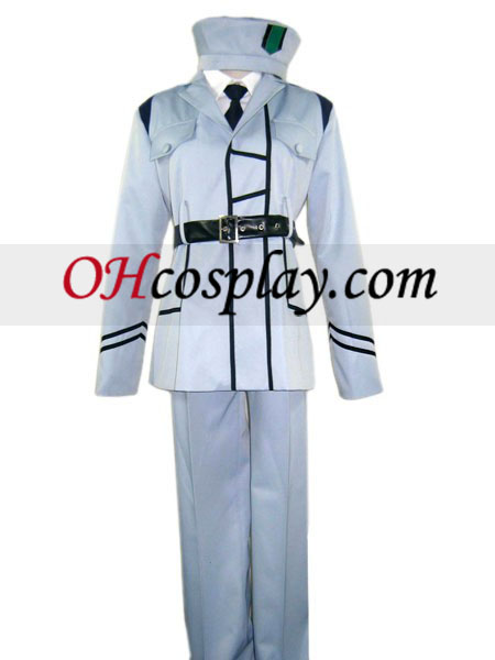 Cor branca uniforme Cosplay traje da Axis Power Hetalia