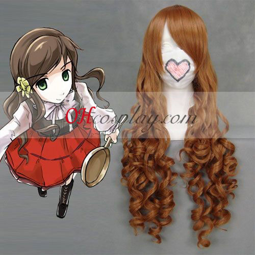 Hetalia Hungary Elizabeth Hedwig Brown Cosplay Wave Wig