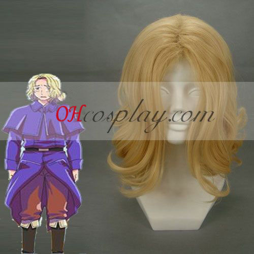 Hetalia Francis Bonnefeuille Golden Cosplay Wig