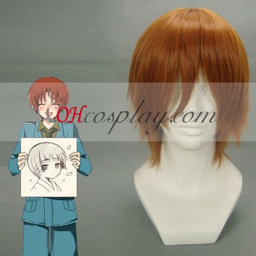 Hetalia Italy Brown Cosplay Wig