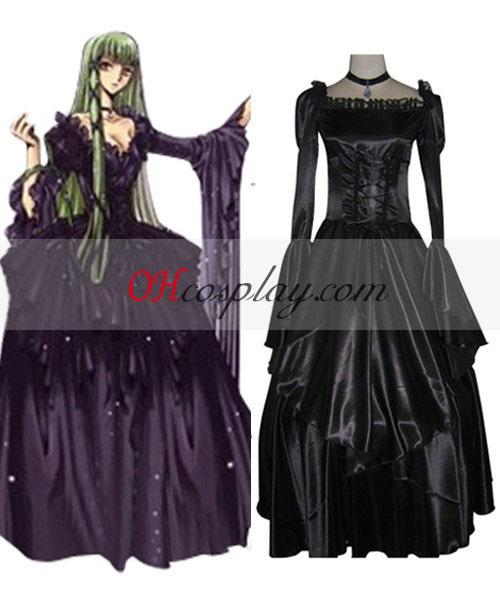 Code Geass C. C Zwarte jurk Cosplay Costume