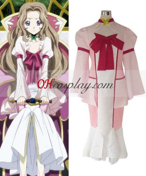 Code Geass Nunnally Lamperouge Cosplay Kostym