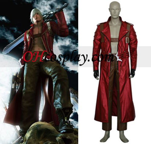 Devil May Cry 3 Kostym Dante Cosplay