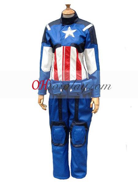 captain america leder cosplay kost me kost m. Black Bedroom Furniture Sets. Home Design Ideas