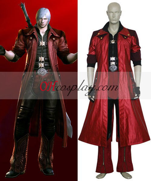 Devil May Cry 4 Dante Cosplay Kostym-Size Large