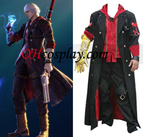 Devil May Cry 4 Nero Cosplay öltözetben