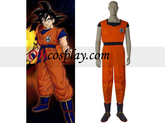 Dragon Ball Goku Pratising Vêtements Costume Carnaval Cosplay