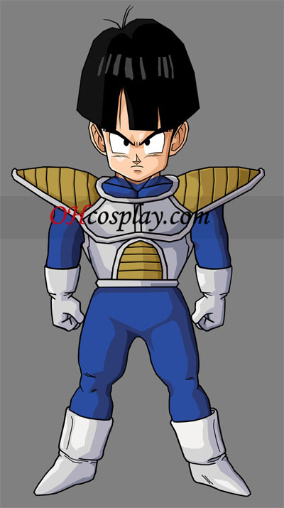 Dragon Ball Kid Gohan Saiyan Armor uniforme Traje Cosplay Dia das Bruxas
