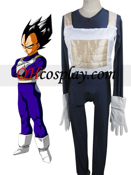 Dragon Ball Vegeta Battle Dress Uniform Cloth Combined Leather Costume