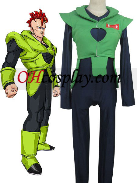 Dragon Ball Andriod Uniform Cloth Combined Leather Costume