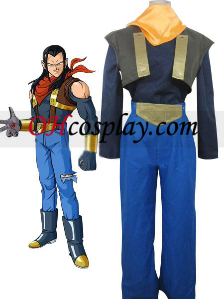 Dragon Ball Super Andriod Uniform Cloth Combined Leather Costume