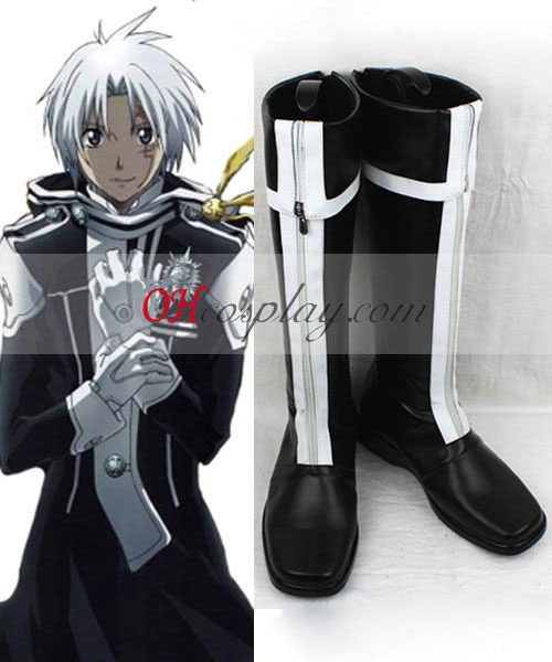 D Gray man Allen Walker 1 Uniform Cosplay Boots