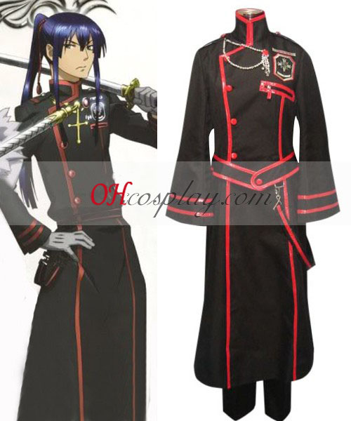 D Gray-man Kanda Yuu 3rd Uniform Cosplay Kostym