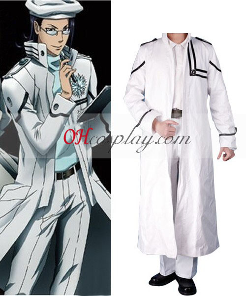 D.Gray-mannen Komui Lee Cosplay Kostym