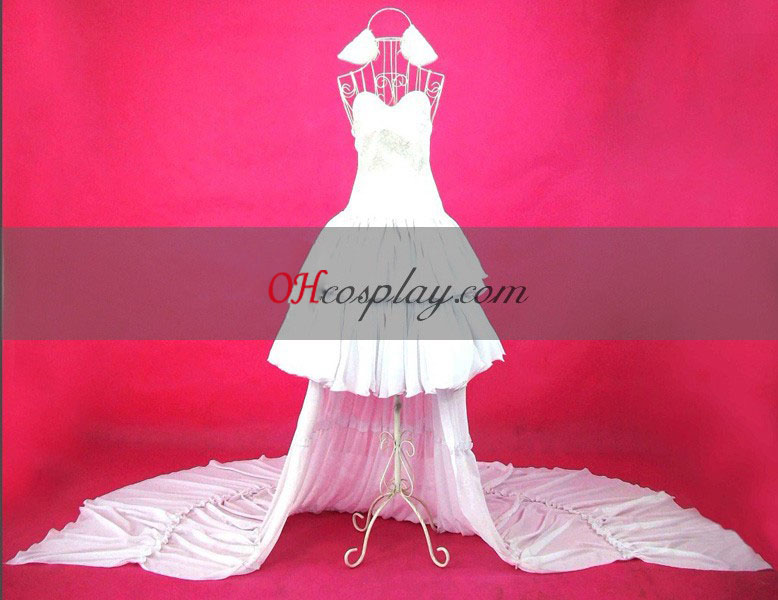 Chobits Chi Witte Jurk Cosplay Costume
