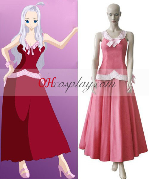 Fairy Tail Mirajane Red Cosplay Costume