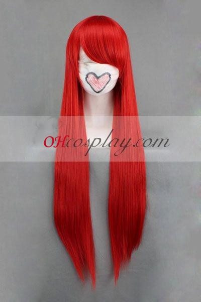 Приказка задни Elza червено Cosplay Wig