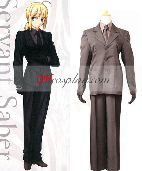 FateZero Saber črno obleko Cosplay kostumov