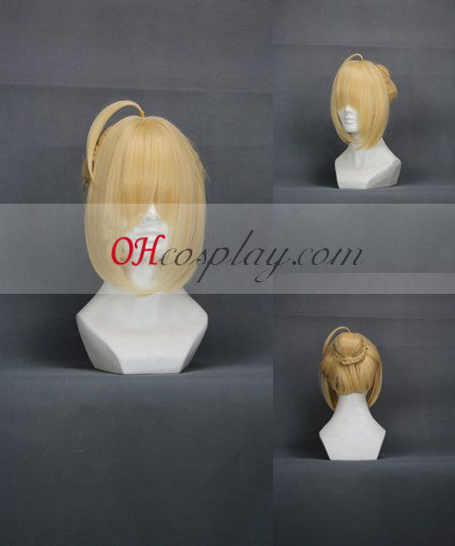 Fate/Zero Saber Yellow Cosplay Wig Australia