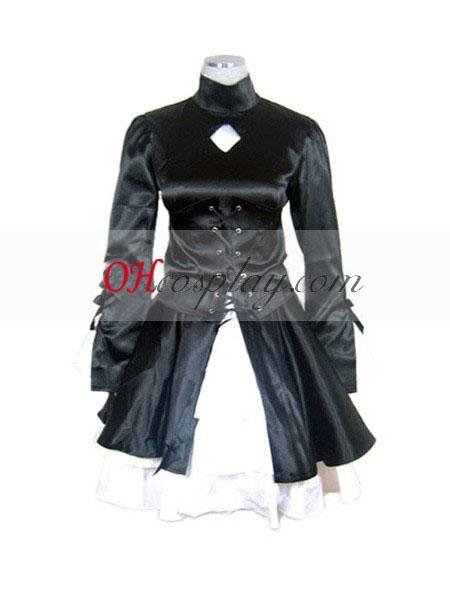 Fate Saty Night Saber Black Dress Cosplay Costume