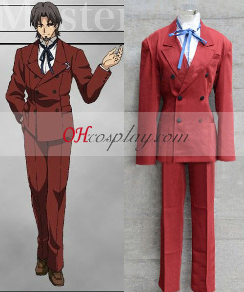 Fate Zero Master Tokiomi Tohsaka Cosplay Kostuum
