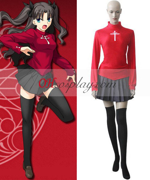 Fate Stay Night Rin Tosaka Cosplay kostyme