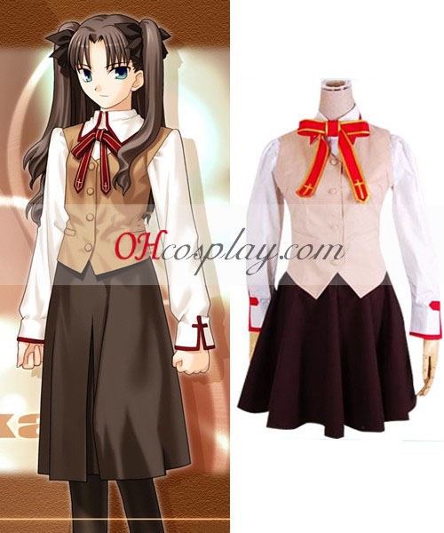 Fate Stay Night Grils' skole Uniform Cosplay kostyme