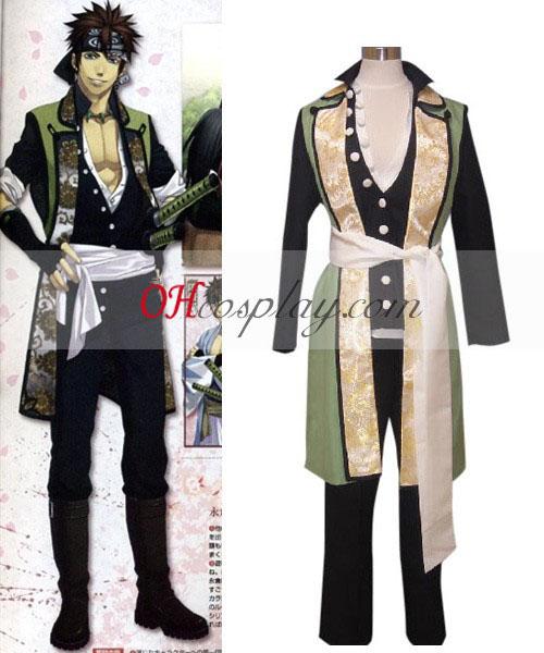 Hakuouki Shinsengumi Kitan Nagakura Shinpachi Cosplay Kostym