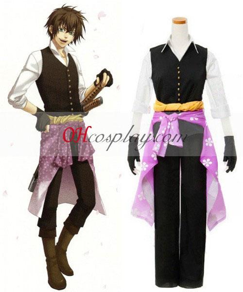 Shinsengumi Hakuouki Kitan Heisuke Huskeliste Cosplay kostyme