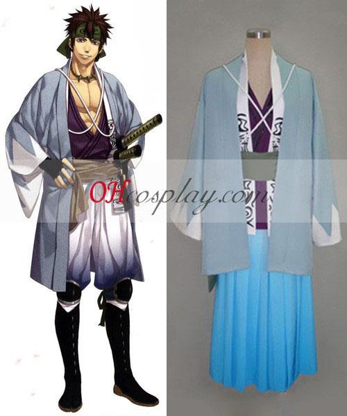 Hakuouki Nagakura Shinpachi Cosplay Kostym