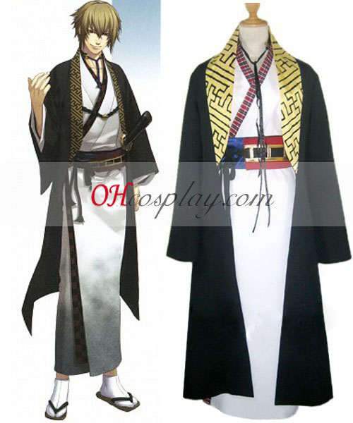 Hakuouki Kazama Chikage Kimono Cosplay Kostym