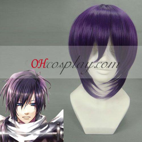 Hakuouki Saito Hajime Purple udklædning Paryk