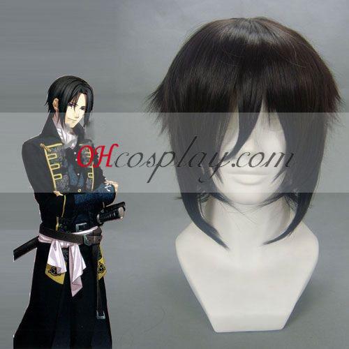 Hakuouki Hijikata Toshizō Μαύρο Cosplay Wig