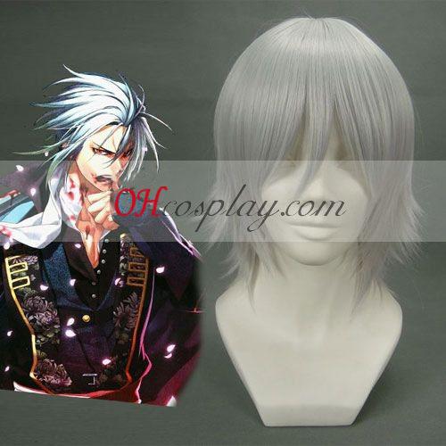 Hakuouki Hijikata Toshizo grisáceo peluca blanca cosplay