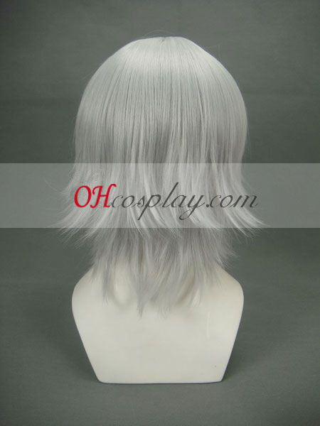 Hakuouki Hijikata Toshizo gråhvid udklædning Paryk