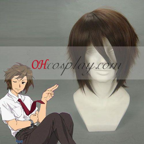 Haruhi Suzumiya Itsuki Koizumi brun Cosplay parykk