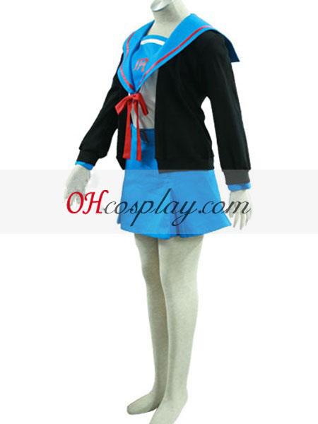 Haruhi Suzumiya Nagato Yuki skoleuniform udklædning Kostume