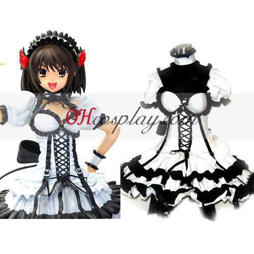 haruhi suzumiya שמלה שחורה lolita קוספליי בגד ים