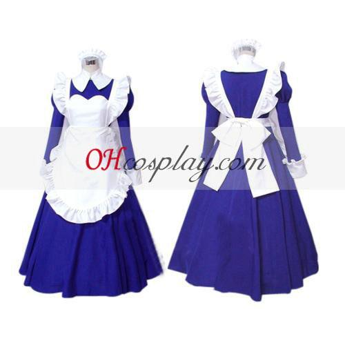 Haruhi Suzumiya Asahina Mikuru Maid udklædning Kostume