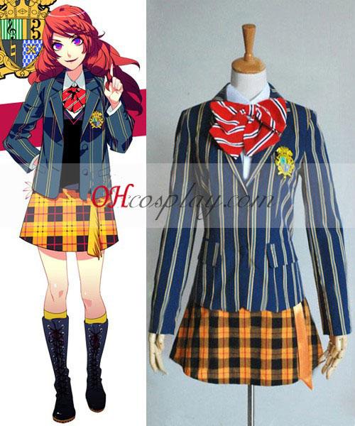 A fejedelem Uta-sama Saotome női öltözet iskolai egyenruha Cosplay