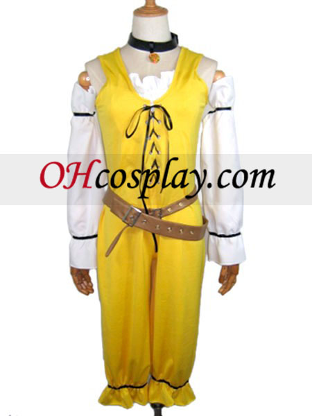 Проникване жълт Cosplay костюм