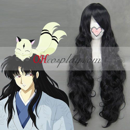 Inuyasha Naraku Noir Costume Carnaval Cosplay Vague Perruque
