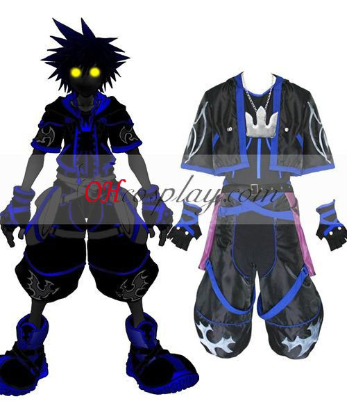 Kingdom Hearts 2 Anti Sora Cosplay Traje