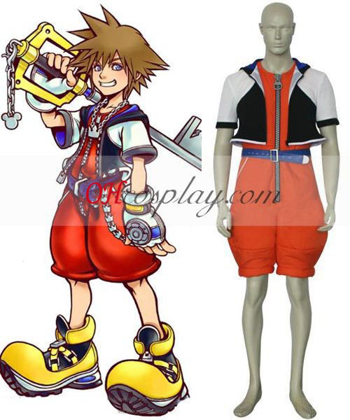 Kingdom Hearts 1 Sora Cosplay Kostym