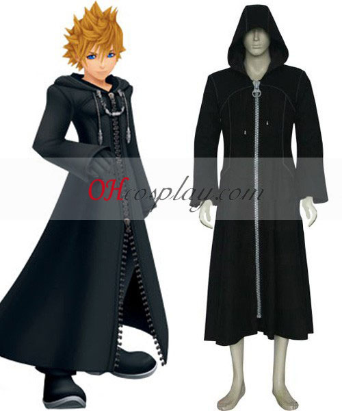 Kingdom Hearts 2 Organisation XIII Roxas Black Cosplay Kostym