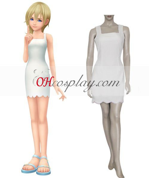 Kingdom Hearts 2 Namine Cosplay Kostym