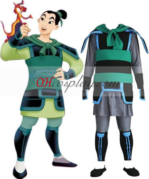 Kingdom Hearts 2 Mulan Costume Carnaval Cosplay